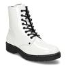 Bílá lakovaná kožená dívčí kotníková obuv bullboxer, bílá, 424-1605 - 13
