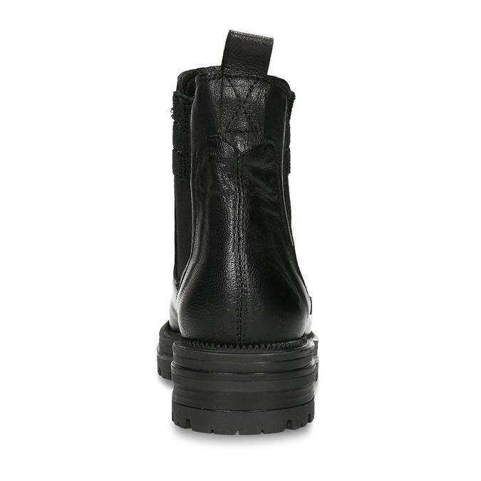 MÓDNÍ KOTNÍČKOVÁ OBUV ČERNÁ KOŽENÁ S GUMOU bata, černá, 596-6623 - 15