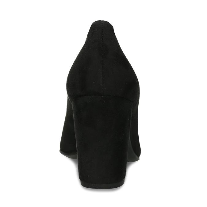 Vysoké lodičky z černé broušené kůže hogl, černá, 623-6601 - 15