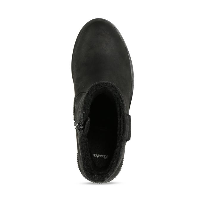Dámská kotníková obuv s kožíškem v černé barvě bata, černá, 599-6611 - 17