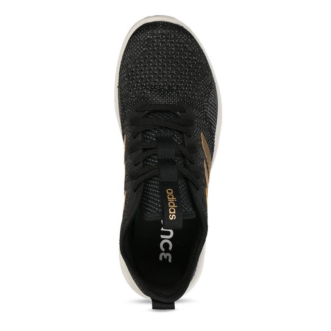 Sportovní tenisky s černým žíháním a zlatými pruhy adidas, černá, 509-6442 - 17