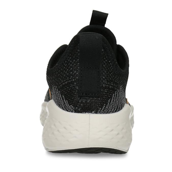 Sportovní tenisky s černým žíháním a zlatými pruhy adidas, černá, 509-6442 - 15