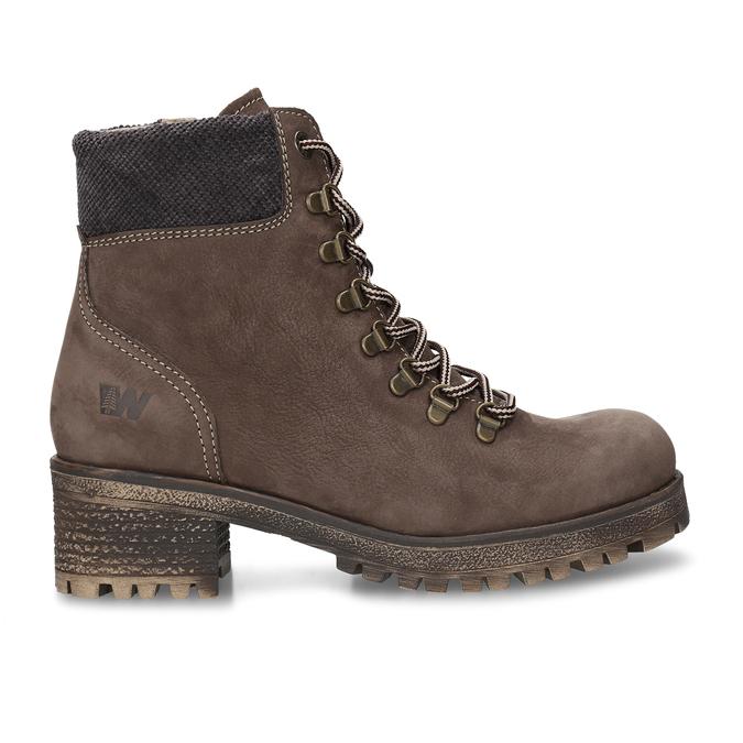 Hnědá dámská kotníková obuv na hrubším podpatku weinbrenner, hnědá, 696-4620 - 19
