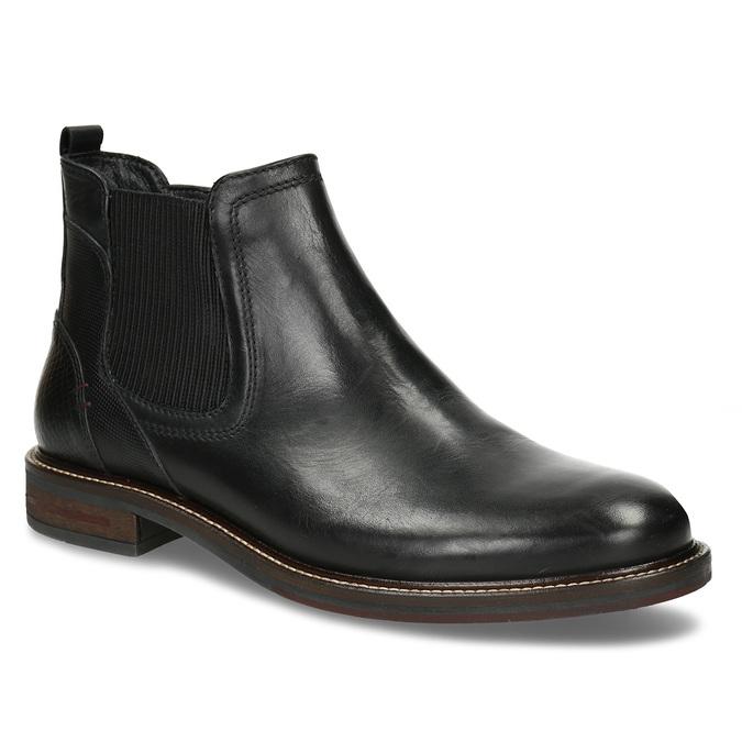 Kožená pánská černá Chelsea obuv bata, černá, 824-6710 - 13