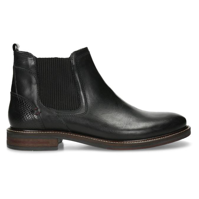 Kožená pánská černá Chelsea obuv bata, černá, 824-6710 - 19