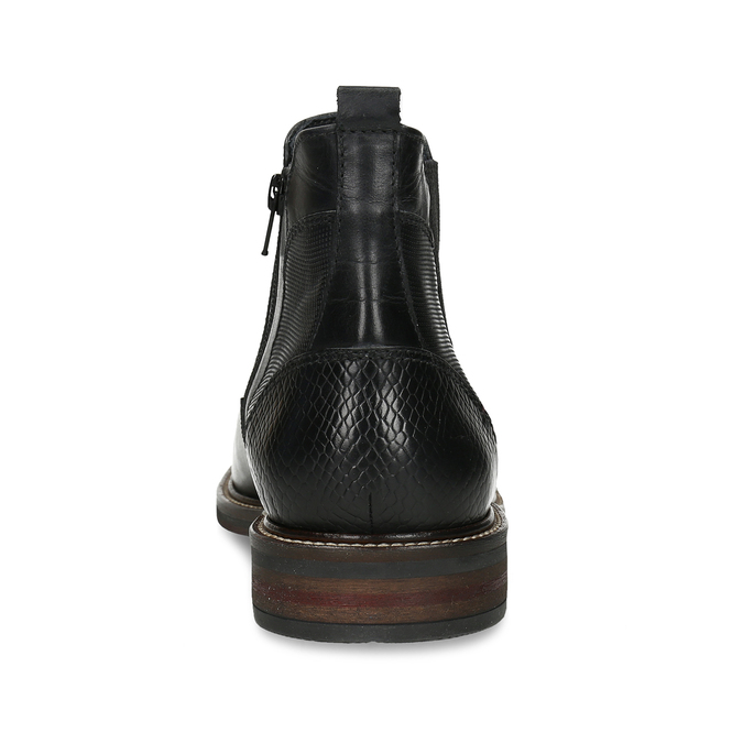 Kožená pánská černá Chelsea obuv bata, černá, 824-6710 - 15