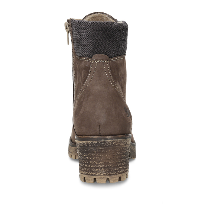 Hnědá dámská kotníková obuv na hrubším podpatku weinbrenner, hnědá, 696-4620 - 15