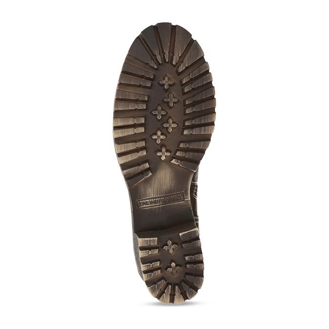 Hnědá dámská kotníková obuv na hrubším podpatku weinbrenner, hnědá, 696-4620 - 18