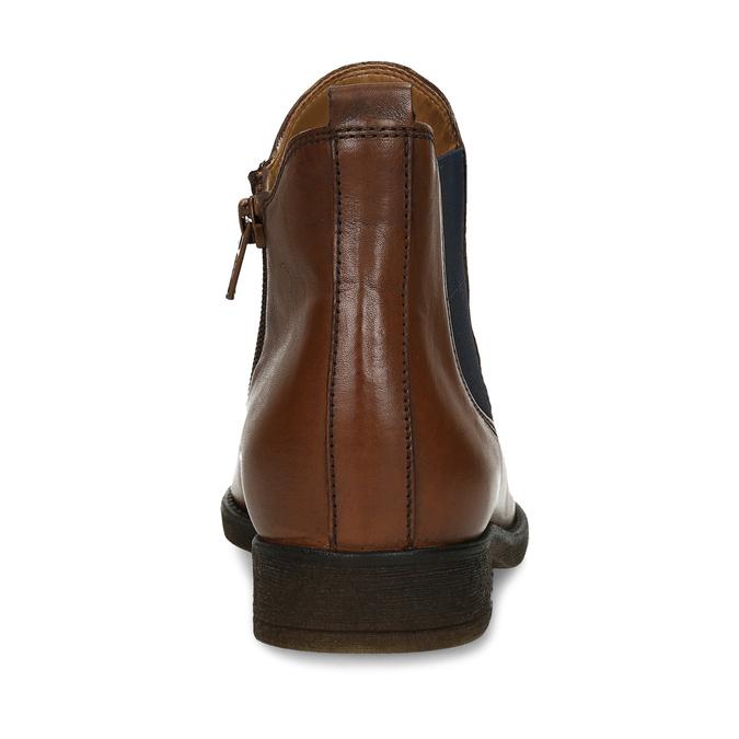 Dámská hnědá kožená Chelsea obuv s nízkým podpatkem gabor, hnědá, 594-3360 - 15