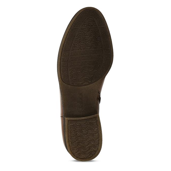 Dámská hnědá kožená Chelsea obuv s nízkým podpatkem gabor, hnědá, 594-3360 - 18