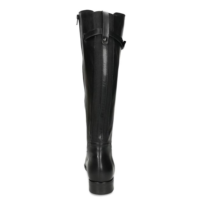 Černé kožené kozačky ve vojenském stylu bata, černá, 594-6702 - 15