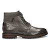 Pánská zimní kotníková obuv v tmavě hnědé kůži bata, šedá, 896-2615 - 19