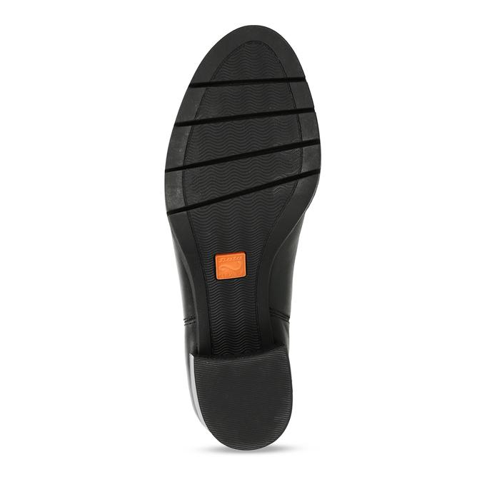 Dámská kožená obuv ve stylu Chelsea Boots se stabilním podpatkem flexible, černá, 794-6631 - 18