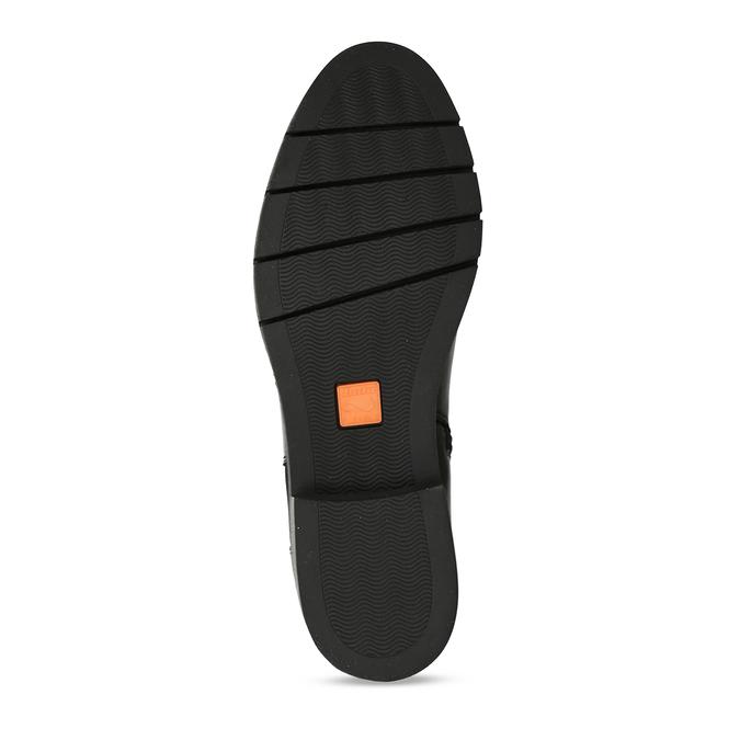 Černé dámské kožené kozačky flexible, černá, 594-6724 - 18