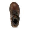 Tmavě hnědá chlapecká zimní kotníková obuv mini-b, hnědá, 211-4618 - 17