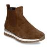 Hnědá dámská kožená kotníková obuv gabor, hnědá, 593-3103 - 13