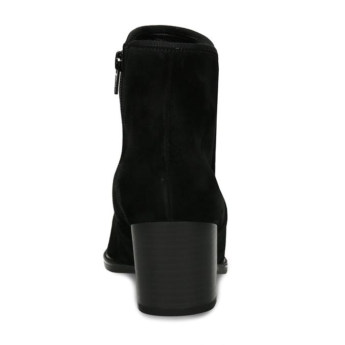 Černá kožená kotníková dámská bota s textilním lemem gabor, černá, 696-6101 - 15