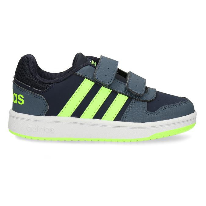 Dětské tenisky se žlutozelenými proužky adidas, modrá, 301-9331 - 19