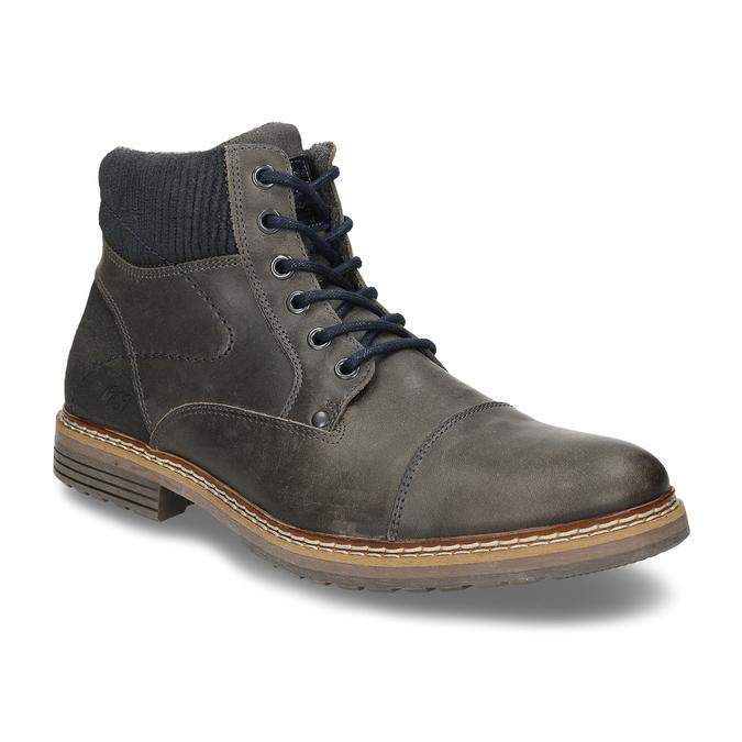 Pánská zimní obuv v šedé kůži bata, šedá, 896-2727 - 13