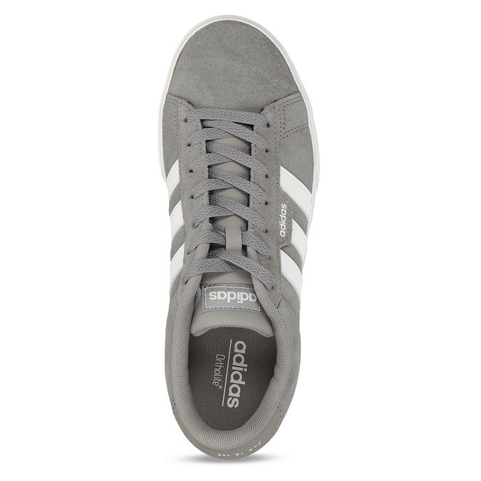 Kožené pánské tenisky v šedobílé variantě adidas, šedá, 803-2372 - 17