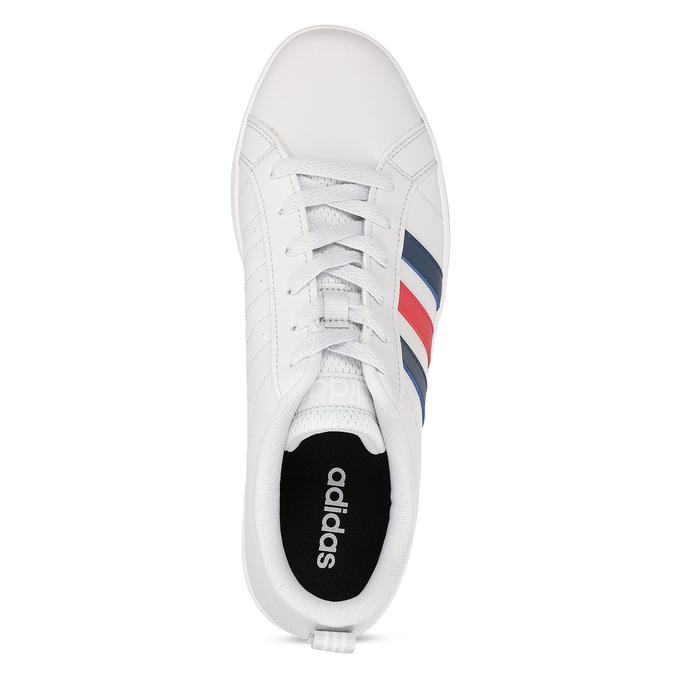 Bílé pánské tenisky s pruhy v červené a modré adidas, bílá, 801-1293 - 17