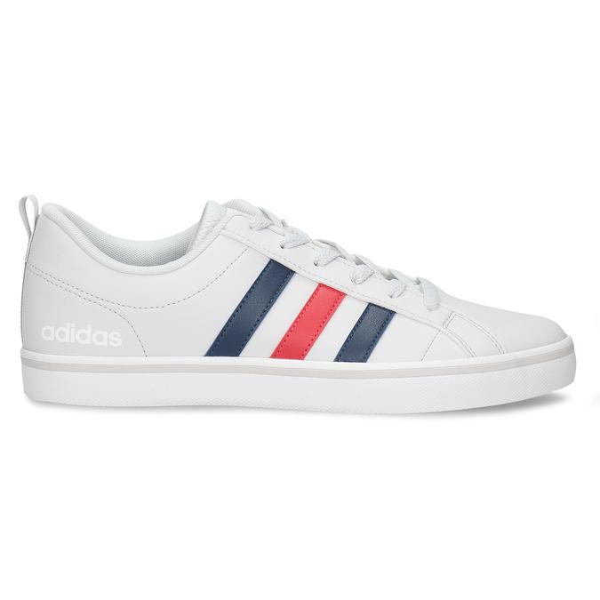 Bílé pánské tenisky s pruhy v červené a modré adidas, bílá, 801-1293 - 19
