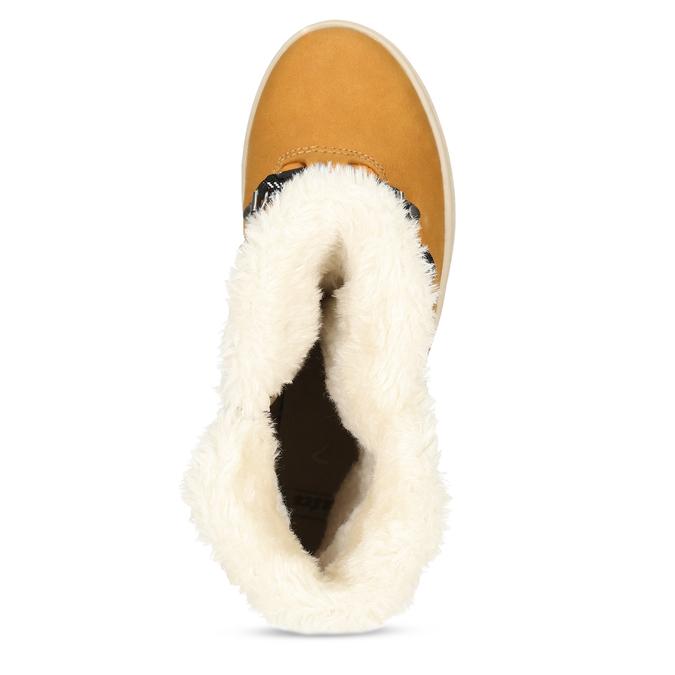 Zimní dámská obuv s huňatým kožíškem bata, žlutá, 599-8630 - 17