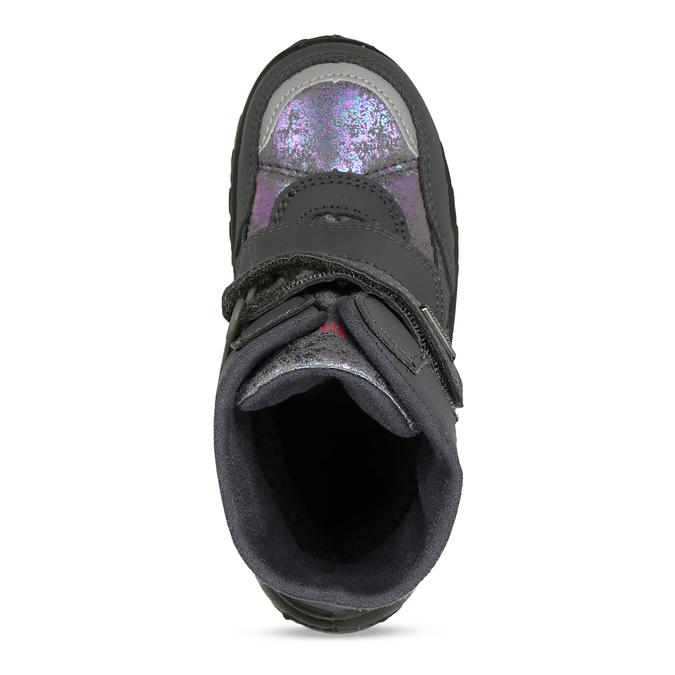 Zimní obuv dětská šedá s metalickými odlesky richter, šedá, 299-2603 - 17