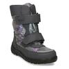 Zimní obuv dětská šedá s metalickými odlesky richter, šedá, 299-2603 - 13