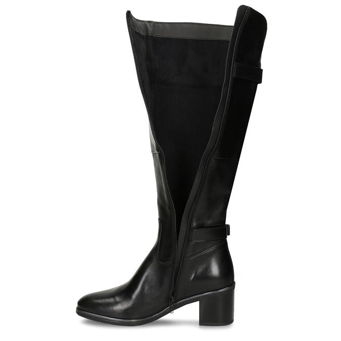 Kožené kozačky pod kolena bata, černá, 694-6656 - 17