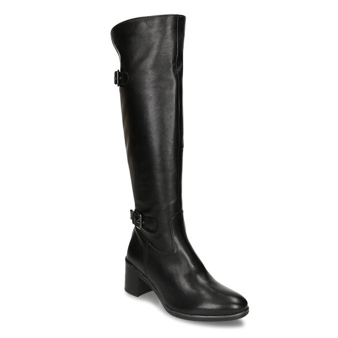 Kožené kozačky pod kolena bata, černá, 694-6656 - 13