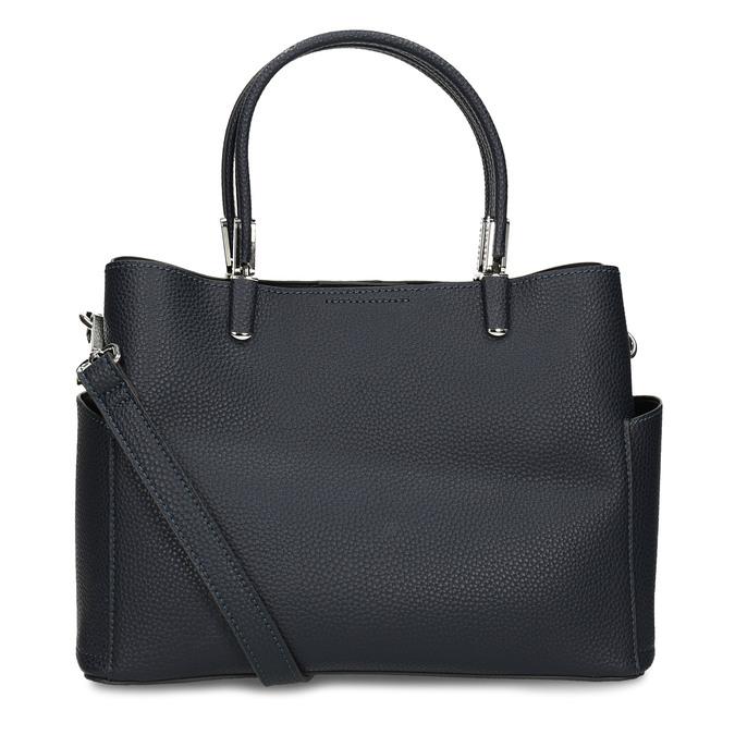Dámská kabelka s kapsičkami po stranách bata, modrá, 961-9610 - 16