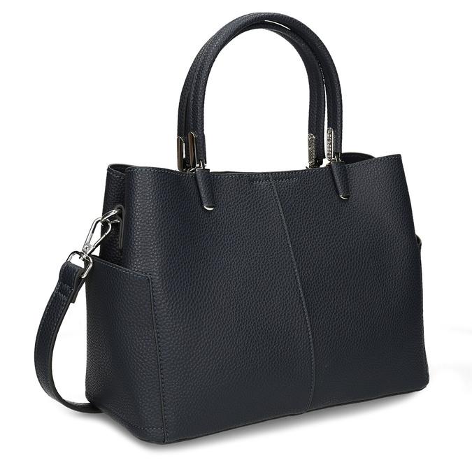 Dámská kabelka s kapsičkami po stranách bata, modrá, 961-9610 - 13