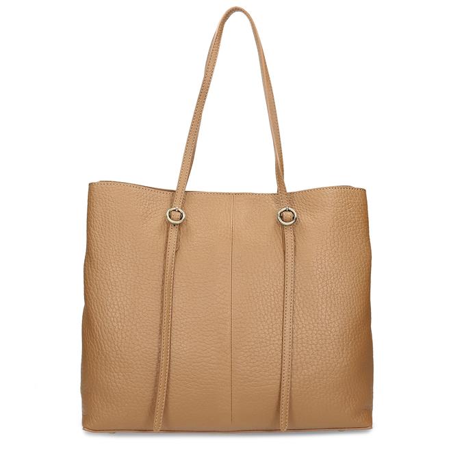 Dámská kožená kabelka s tenkými uchy bata, béžová, 964-3622 - 26