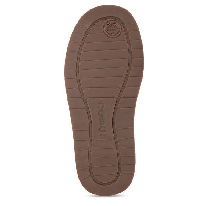 Šedé kožené zimní kotníkové boty s kožíškem coqui, šedá, 593-2611 - 18