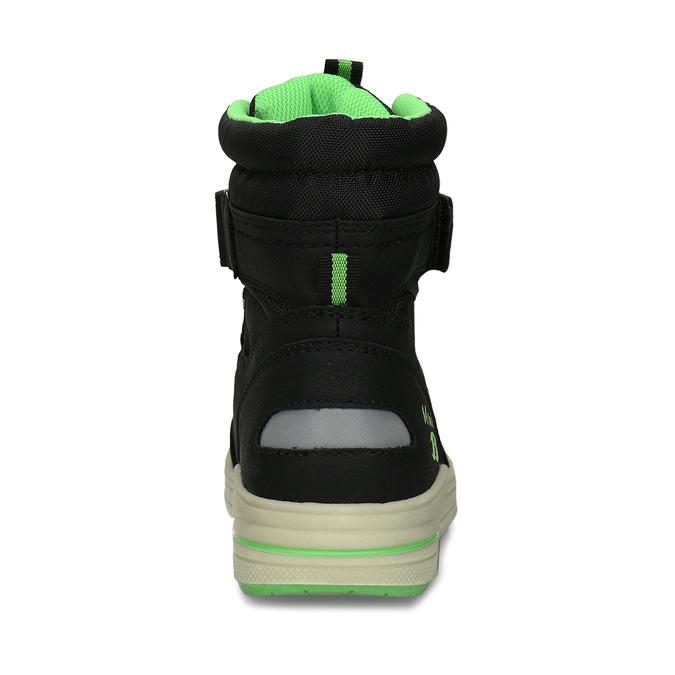 Chlapecké černo-zelené sněhule mini-b, černá, 311-6602 - 15