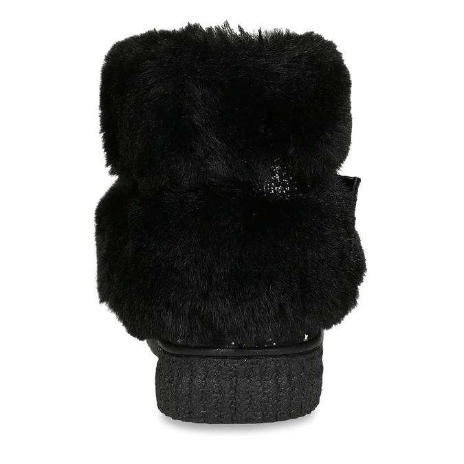 Černé kotníkové tenisky s vločkami a kožíškem primigi, černá, 323-6614 - 15