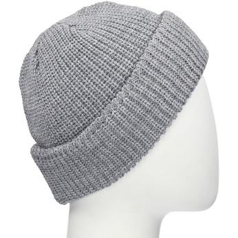 Šedá pletená čepice s ohrnutým okrajem bata, šedá, 909-2690 - 13