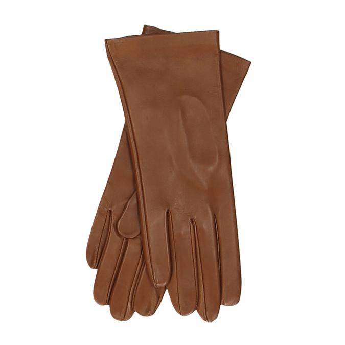 Hnědé dámské kožené rukavice junek, hnědá, 944-3101 - 13