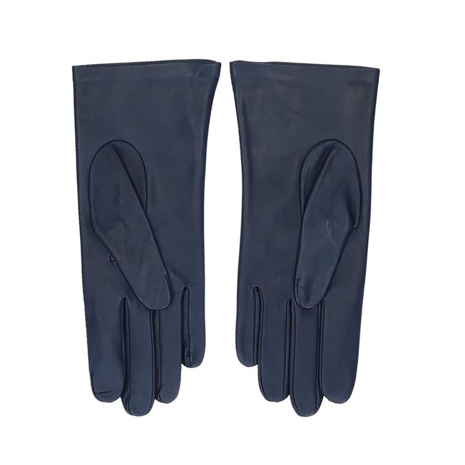 Tmavě modré dámské kožené rukavice junek, modrá, 944-9101 - 16