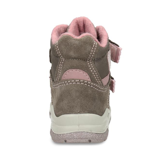Světle hnědá dívčí kotníková obuv na suchý zip primigi, hnědá, 123-4626 - 15