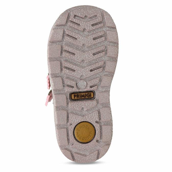 Světle hnědá dívčí kotníková obuv na suchý zip primigi, hnědá, 123-4626 - 18