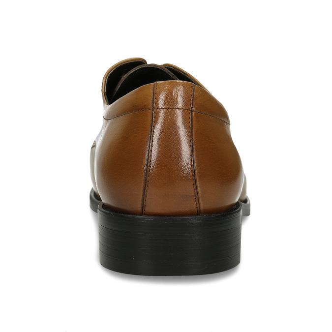 Pánské polobotky v derby stylu a světlehnědé kůži bata, hnědá, 826-3651 - 15