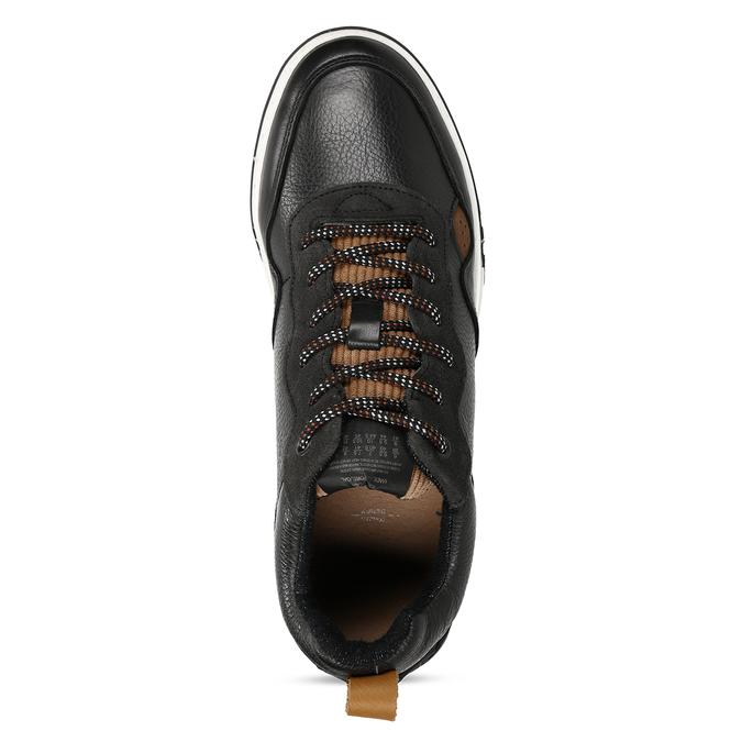 Černé kožené tenisky v městském stylu bata, černá, 846-6621 - 17