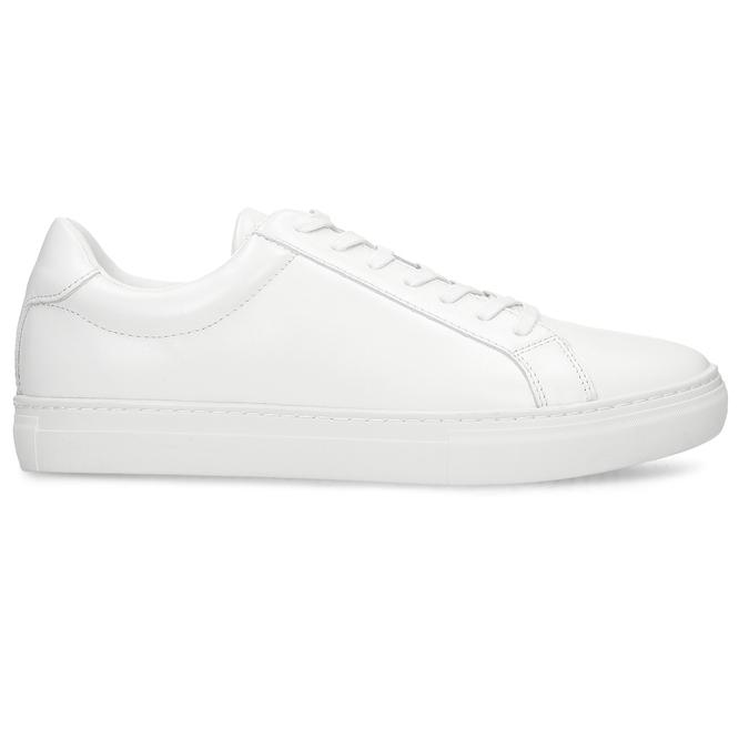 Bílé pánské kožené tenisky vagabond, bílá, 844-1602 - 19