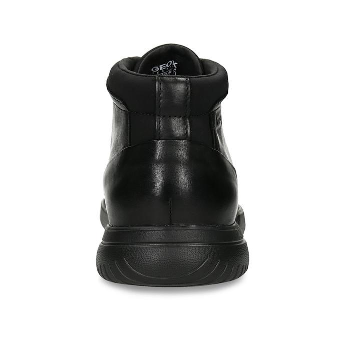 Černá kožená kotníková obuv geox, černá, 896-6702 - 15