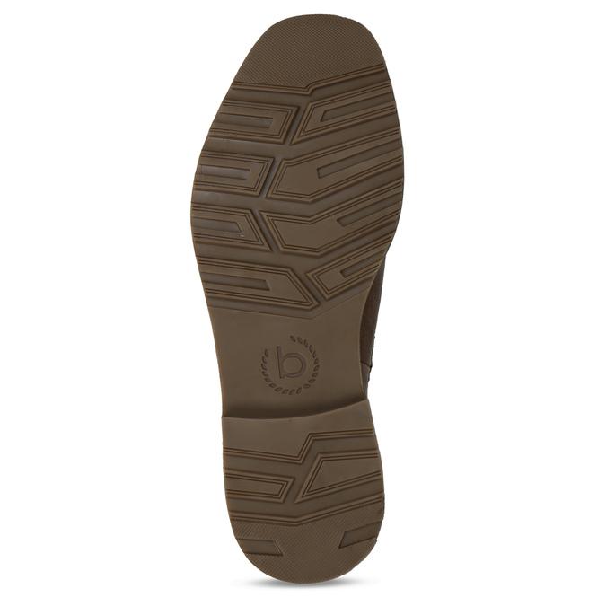 Hnědá pánská kožená Chelsea obuv bugatti, hnědá, 896-4893 - 18