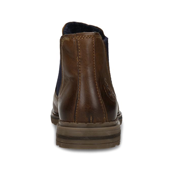 Hnědá pánská kožená Chelsea obuv bugatti, hnědá, 896-4893 - 15