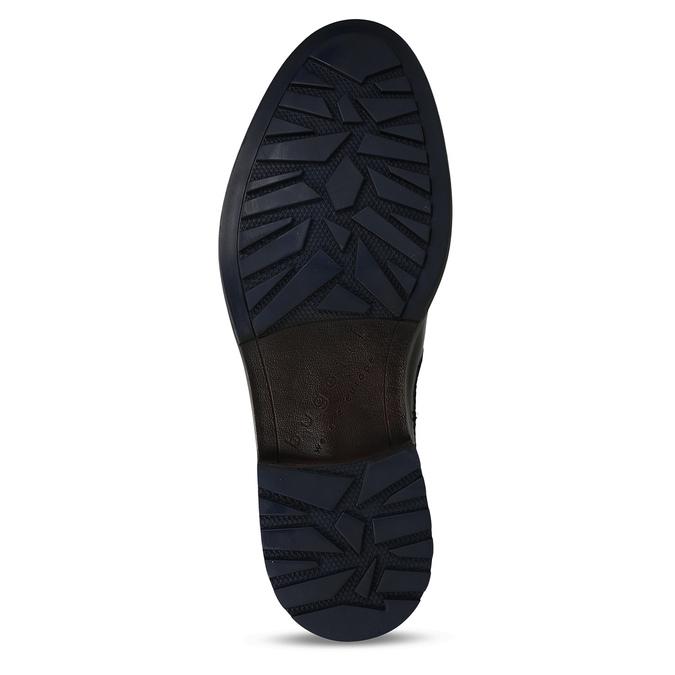 Tmavě hnědá kožená Chelsea obuv bugatti, hnědá, 896-4880 - 18