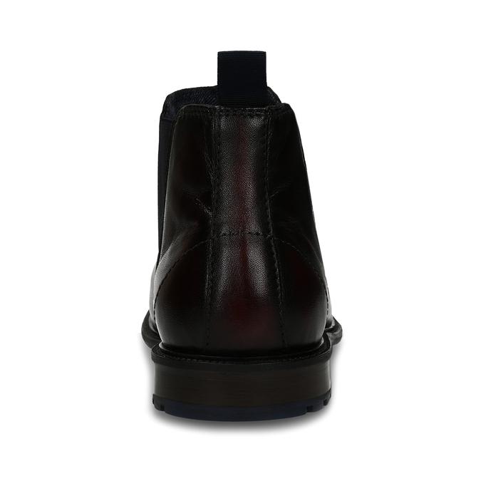 Tmavě hnědá kožená Chelsea obuv bugatti, hnědá, 896-4880 - 15